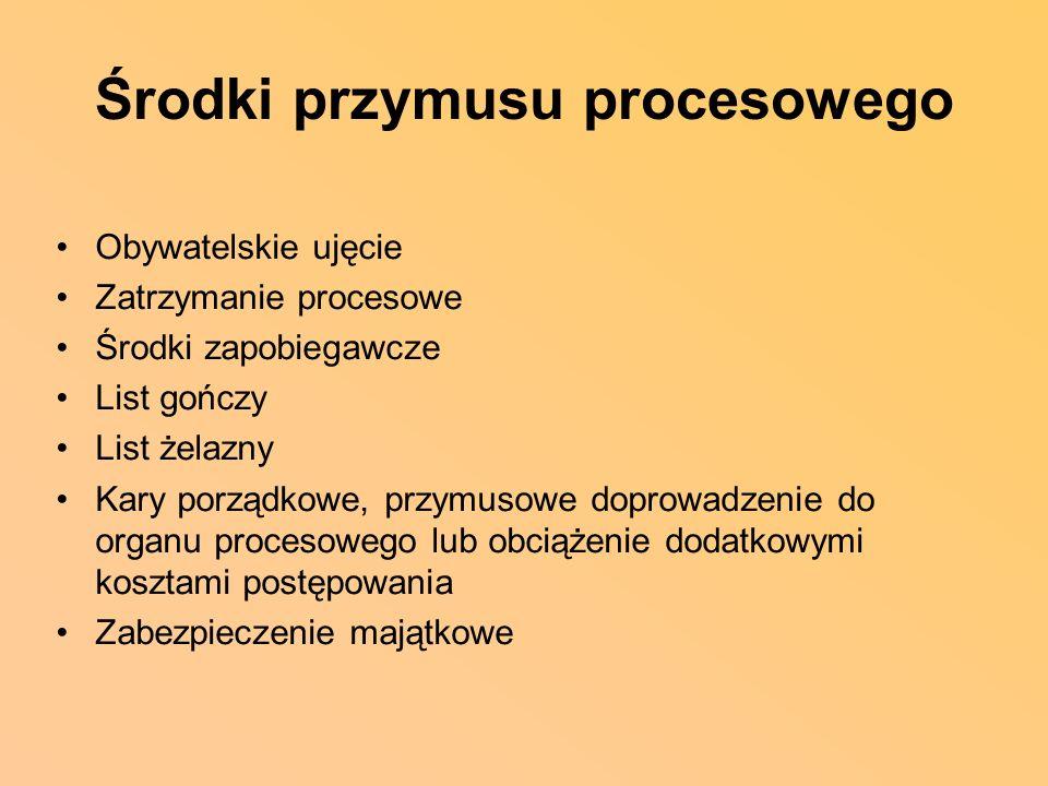 Środki przymusu procesowego
