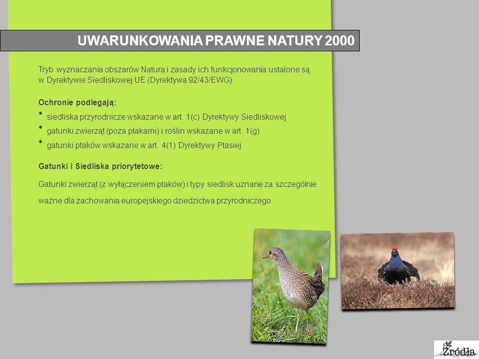 UWARUNKOWANIA PRAWNE NATURY 2000