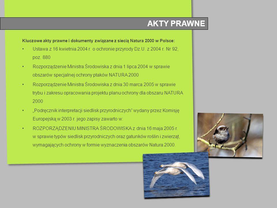 AKTY PRAWNE Kluczowe akty prawne i dokumenty związane z siecią Natura 2000 w Polsce: