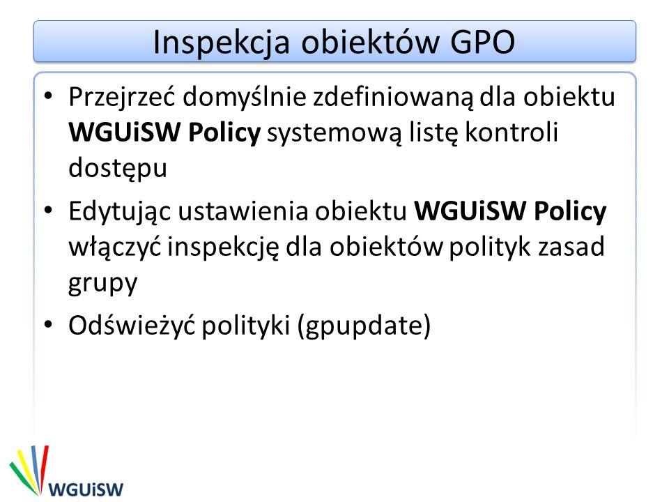 Inspekcja obiektów GPO
