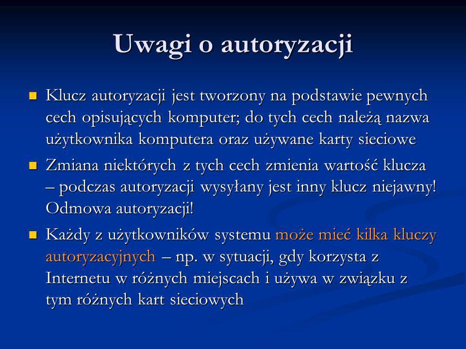 Uwagi o autoryzacji