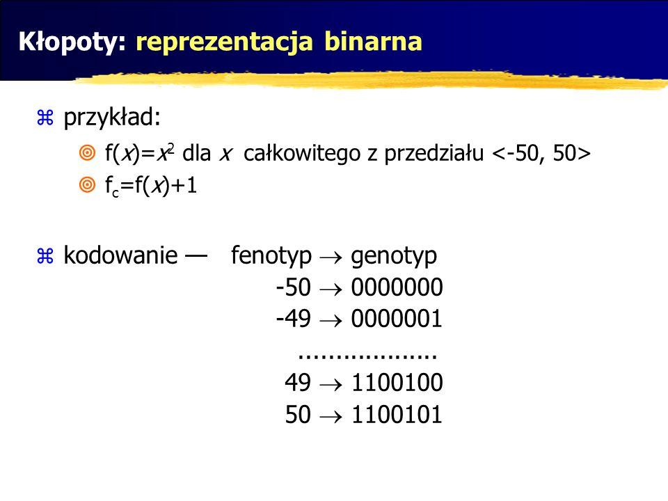 Kłopoty: reprezentacja binarna