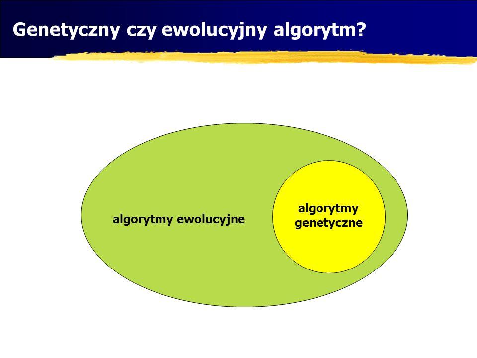 Genetyczny czy ewolucyjny algorytm