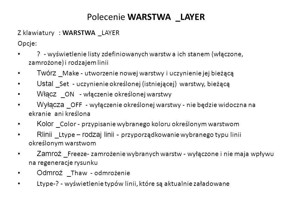Polecenie WARSTWA _LAYER