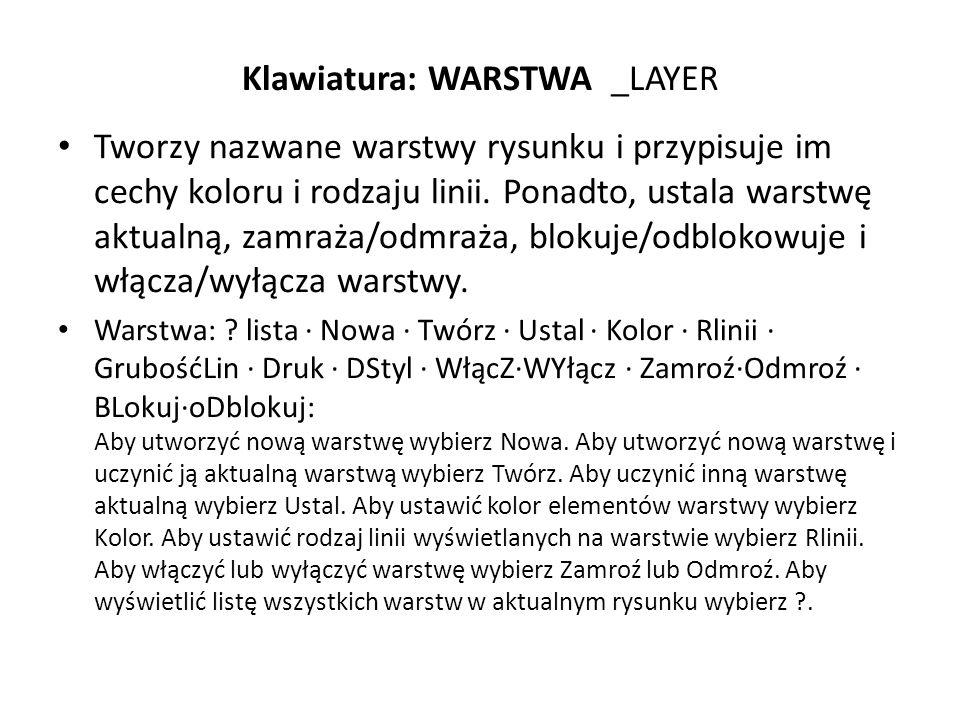 Klawiatura: WARSTWA _LAYER