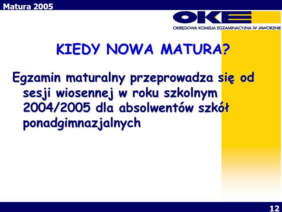 KIEDY NOWA MATURA.