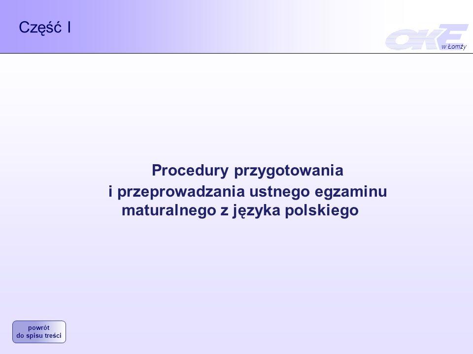 Procedury przygotowania i przeprowadzania ustnego egzaminu