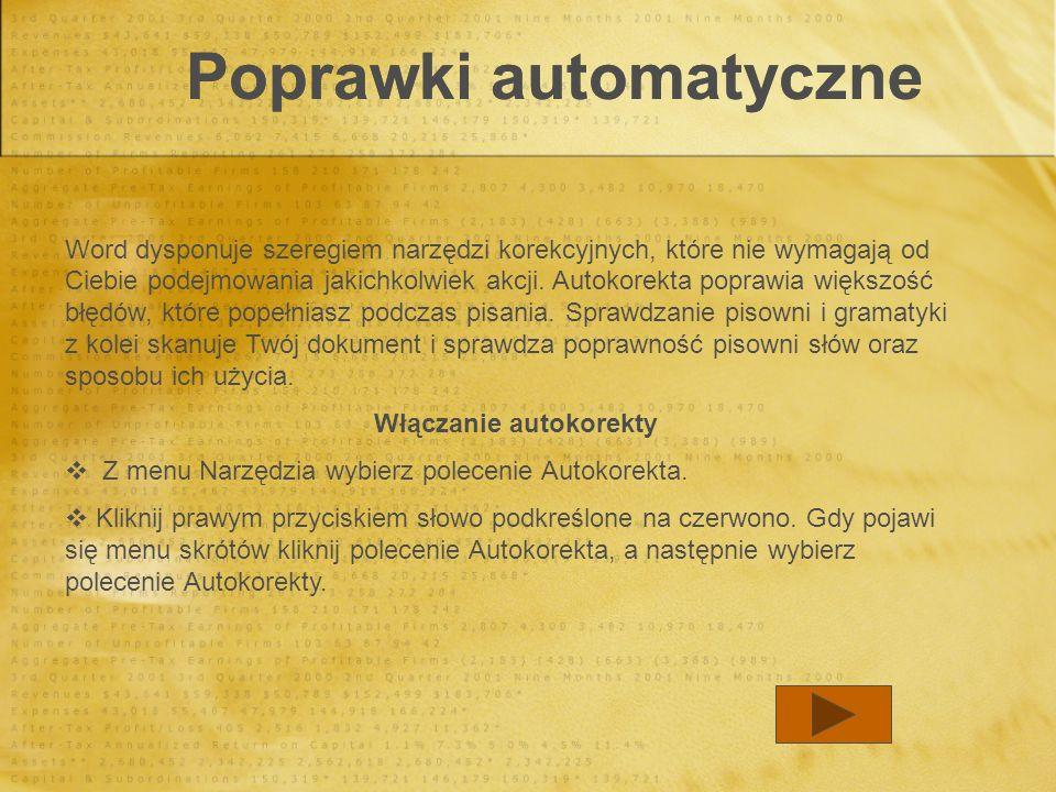 Poprawki automatyczne