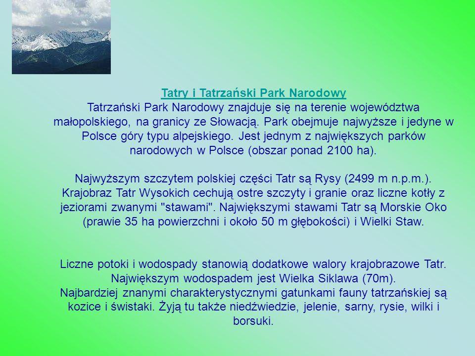 Tatry i Tatrzański Park Narodowy