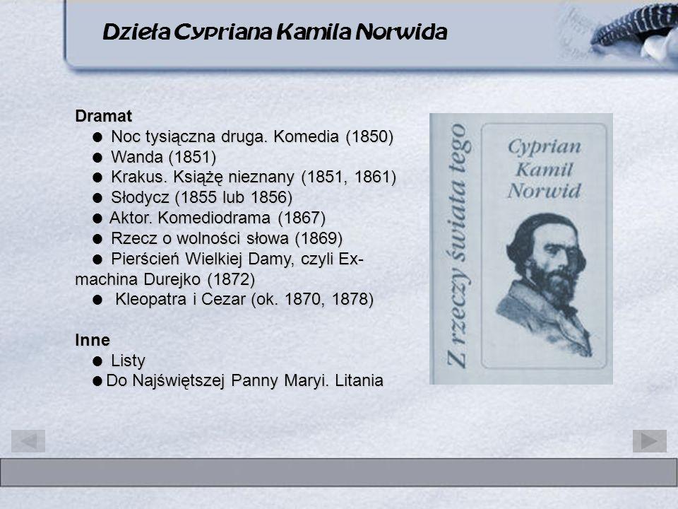 Dzieła Cypriana Kamila Norwida