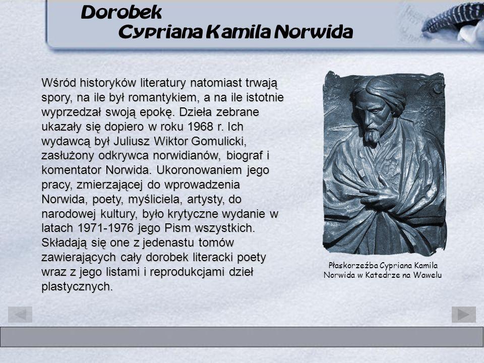 Dorobek Cypriana Kamila Norwida