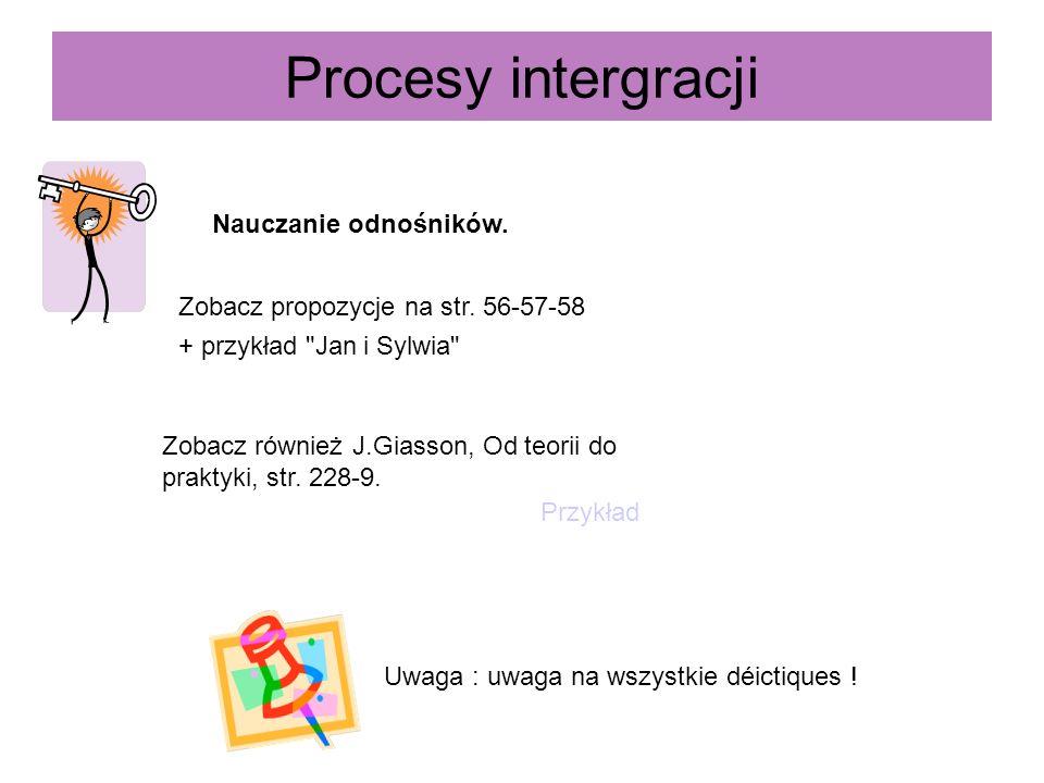 Procesy intergracji Nauczanie odnośników.