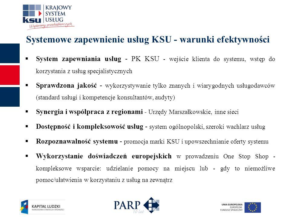 Systemowe zapewnienie usług KSU - warunki efektywności