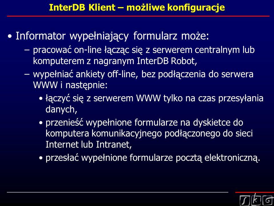 InterDB Klient – możliwe konfiguracje