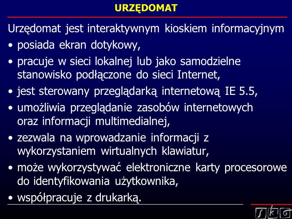 Urzędomat jest interaktywnym kioskiem informacyjnym