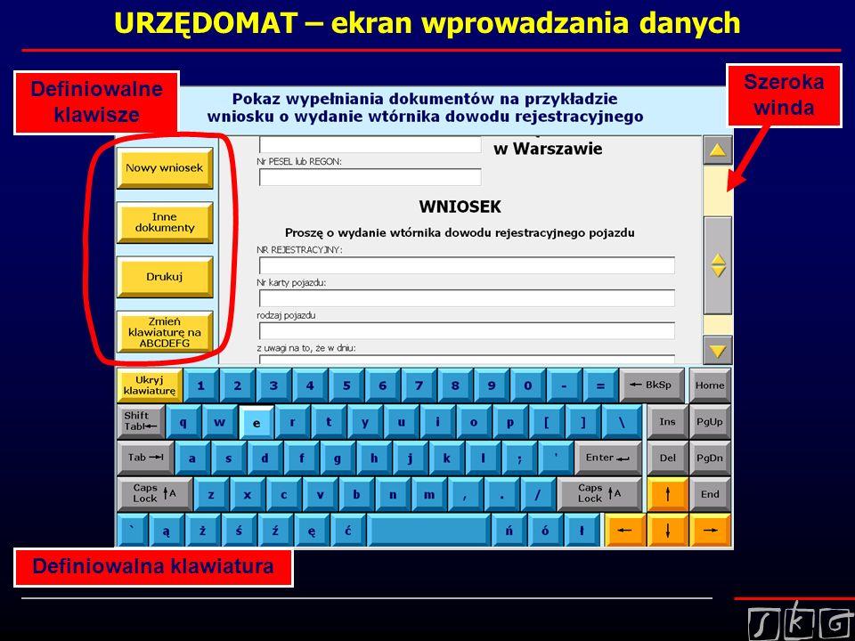 URZĘDOMAT – ekran wprowadzania danych