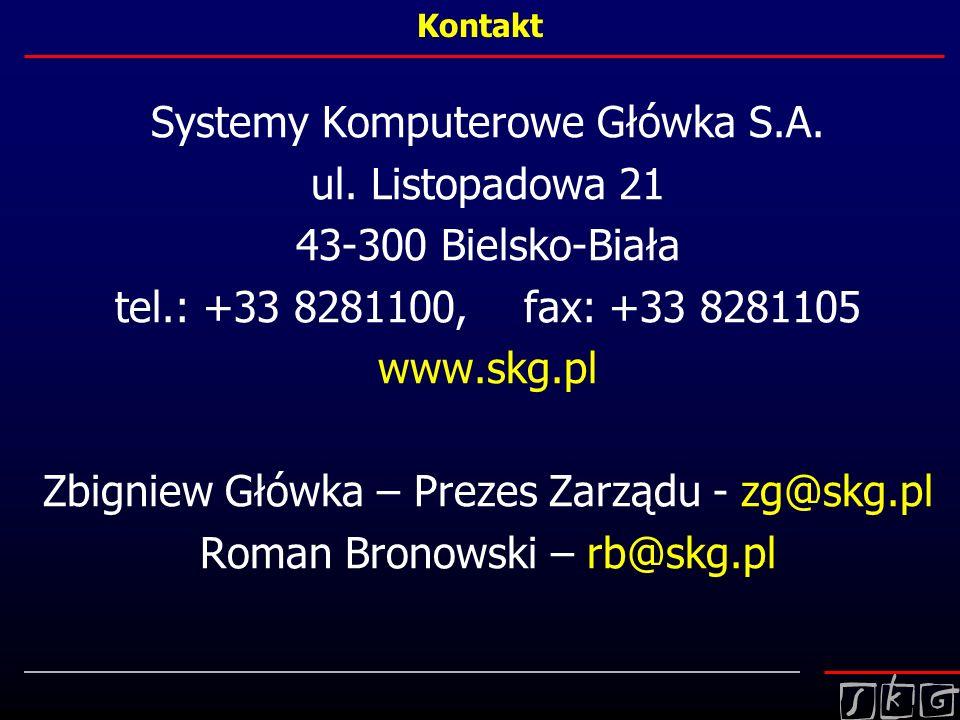 Systemy Komputerowe Główka S.A. ul. Listopadowa 21
