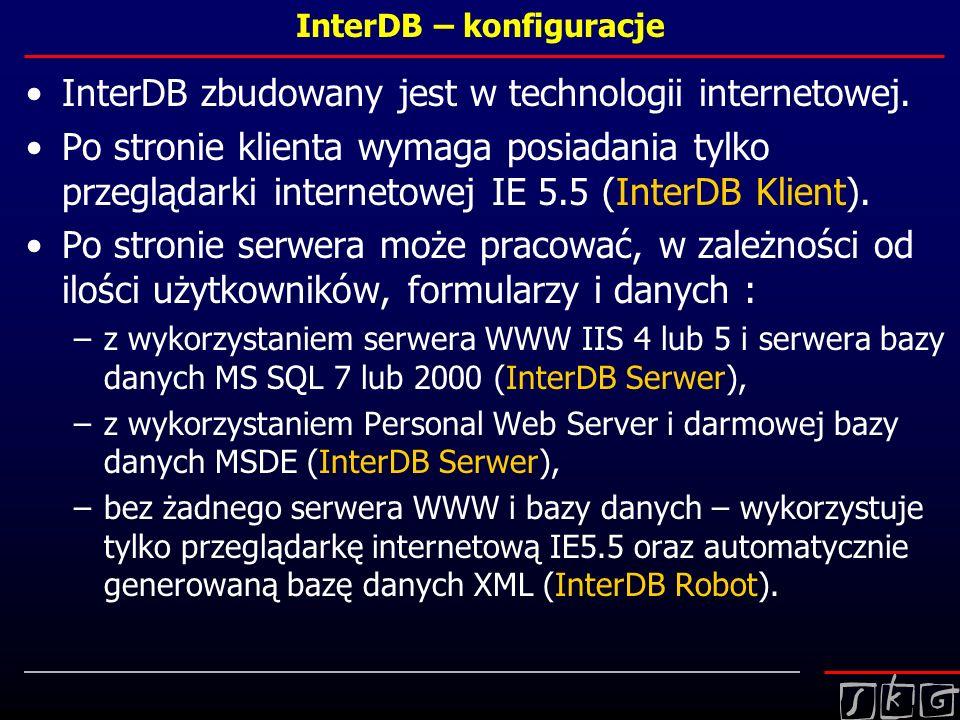 InterDB – konfiguracje