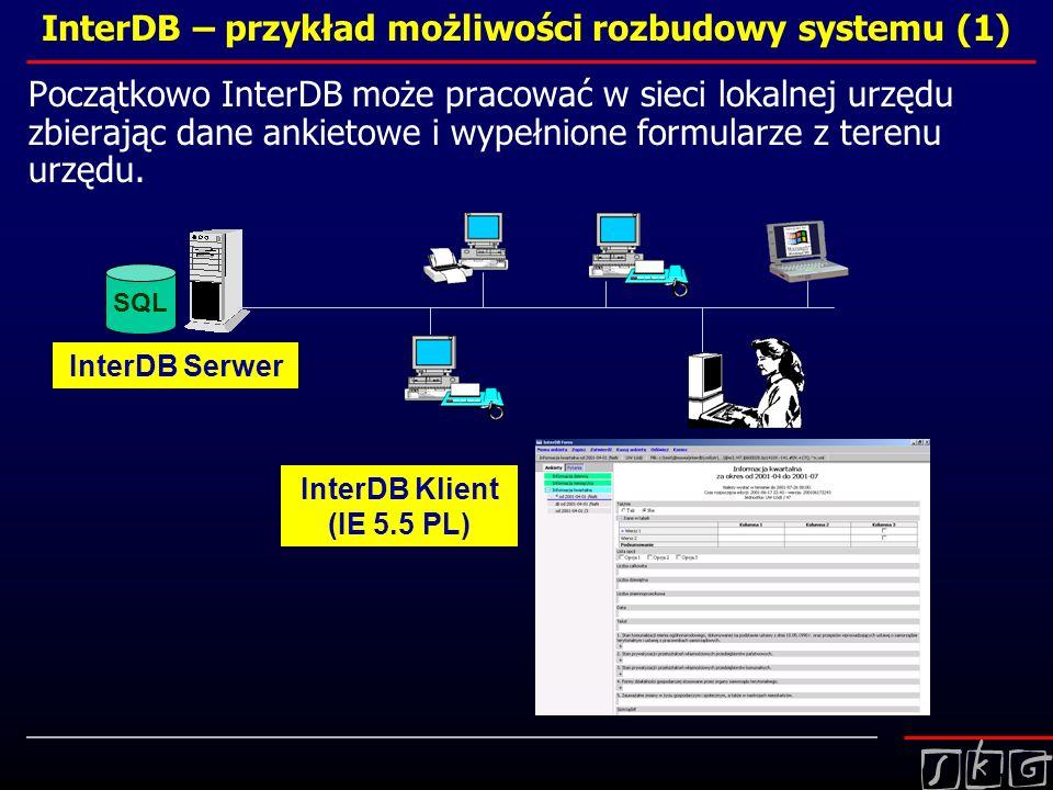 InterDB – przykład możliwości rozbudowy systemu (1)