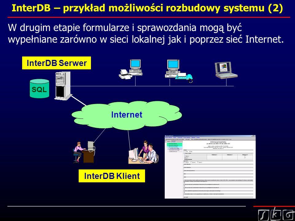 InterDB – przykład możliwości rozbudowy systemu (2)
