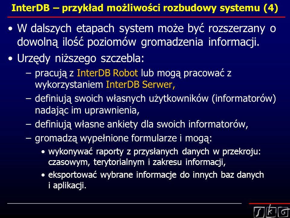 InterDB – przykład możliwości rozbudowy systemu (4)