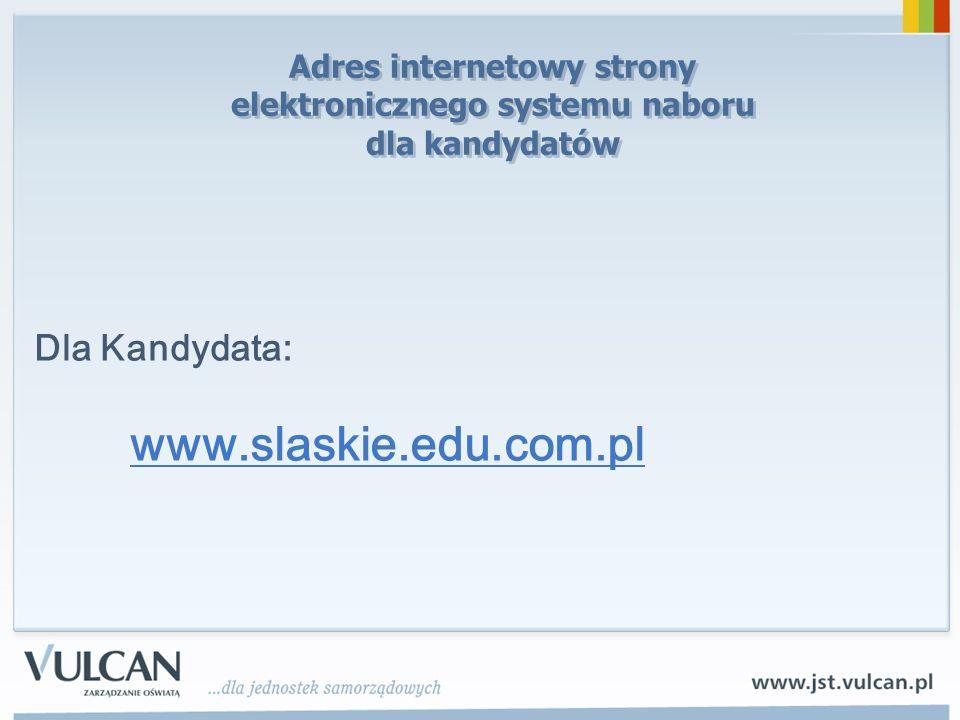 Adres internetowy strony elektronicznego systemu naboru dla kandydatów