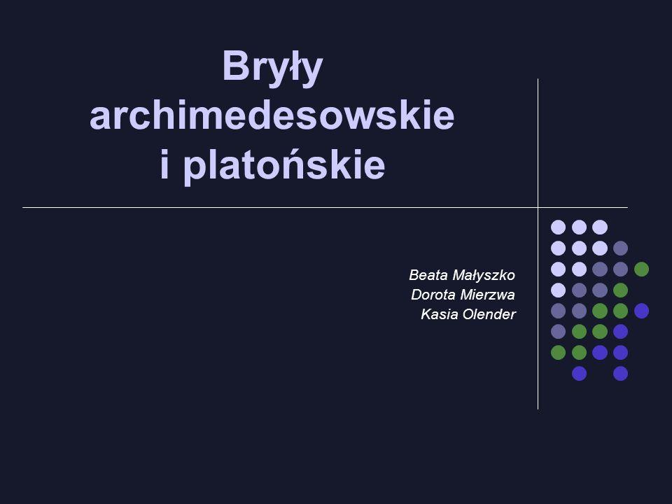 Bryły archimedesowskie i platońskie