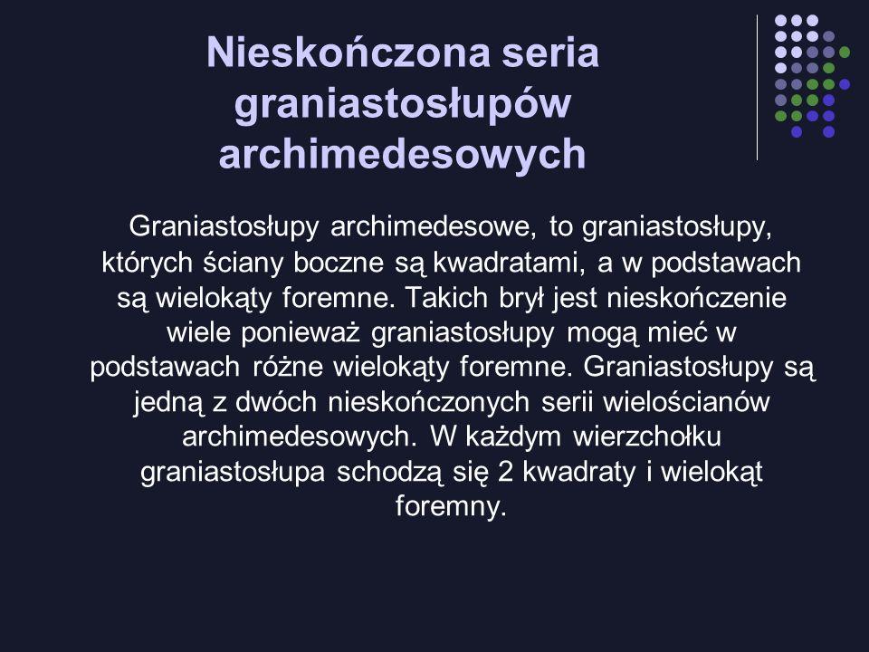 Nieskończona seria graniastosłupów archimedesowych
