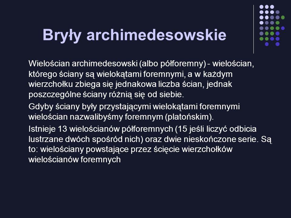 Bryły archimedesowskie