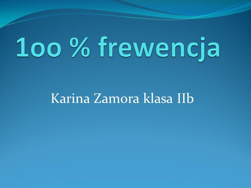 Karina Zamora klasa IIb