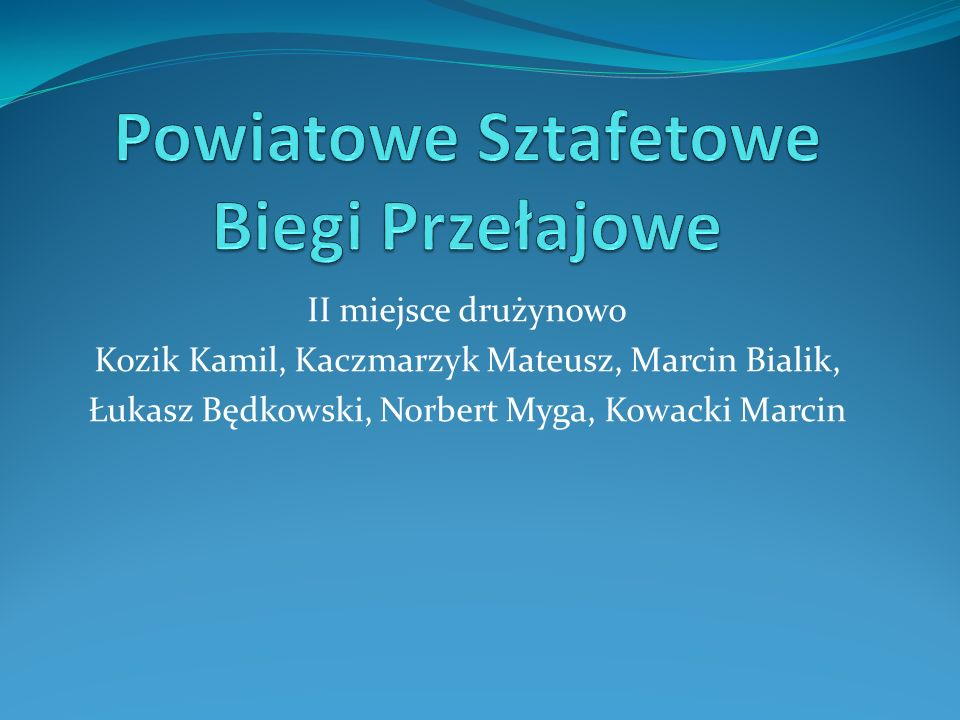 Powiatowe Sztafetowe Biegi Przełajowe