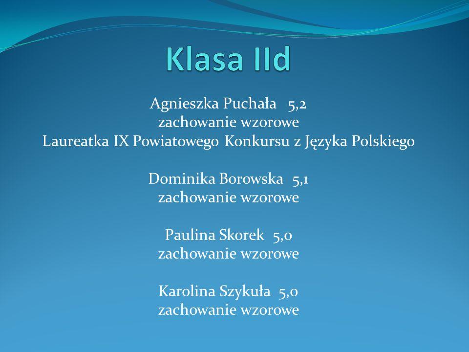 Laureatka IX Powiatowego Konkursu z Języka Polskiego