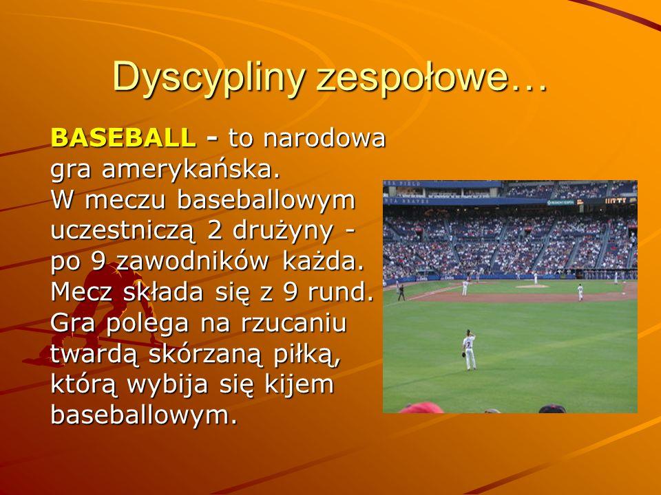 Dyscypliny zespołowe…