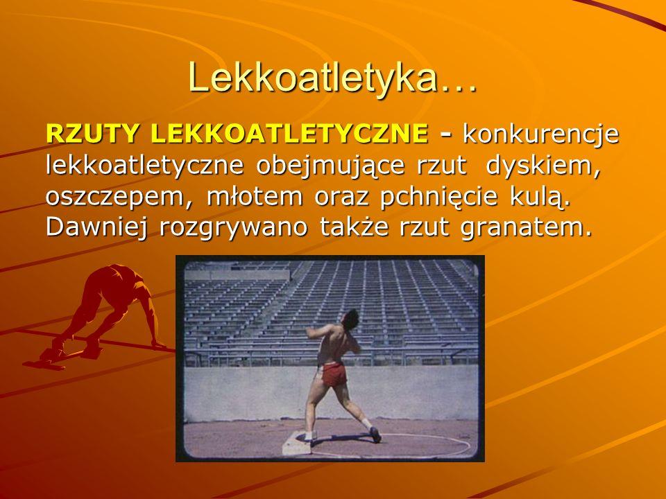Lekkoatletyka…
