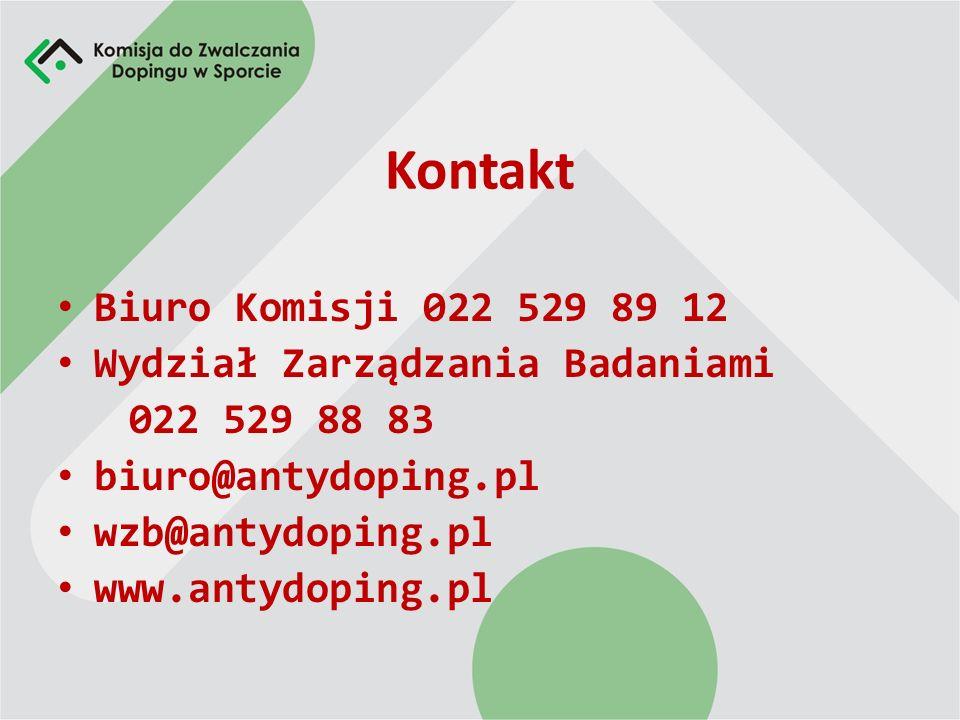 Kontakt Biuro Komisji 022 529 89 12 Wydział Zarządzania Badaniami