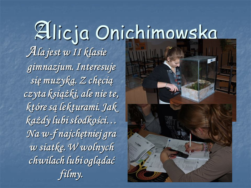 Alicja Onichimowska