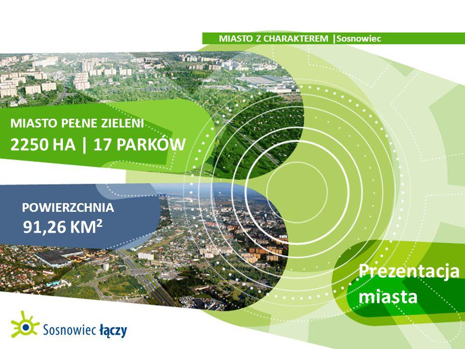 Prezentacja miasta 2250 HA | 17 PARKÓW 91,26 KM2 MIASTO PEŁNE ZIELENI
