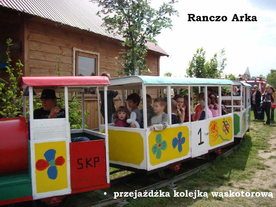 Ranczo Arka przejażdżka kolejką wąskotorową