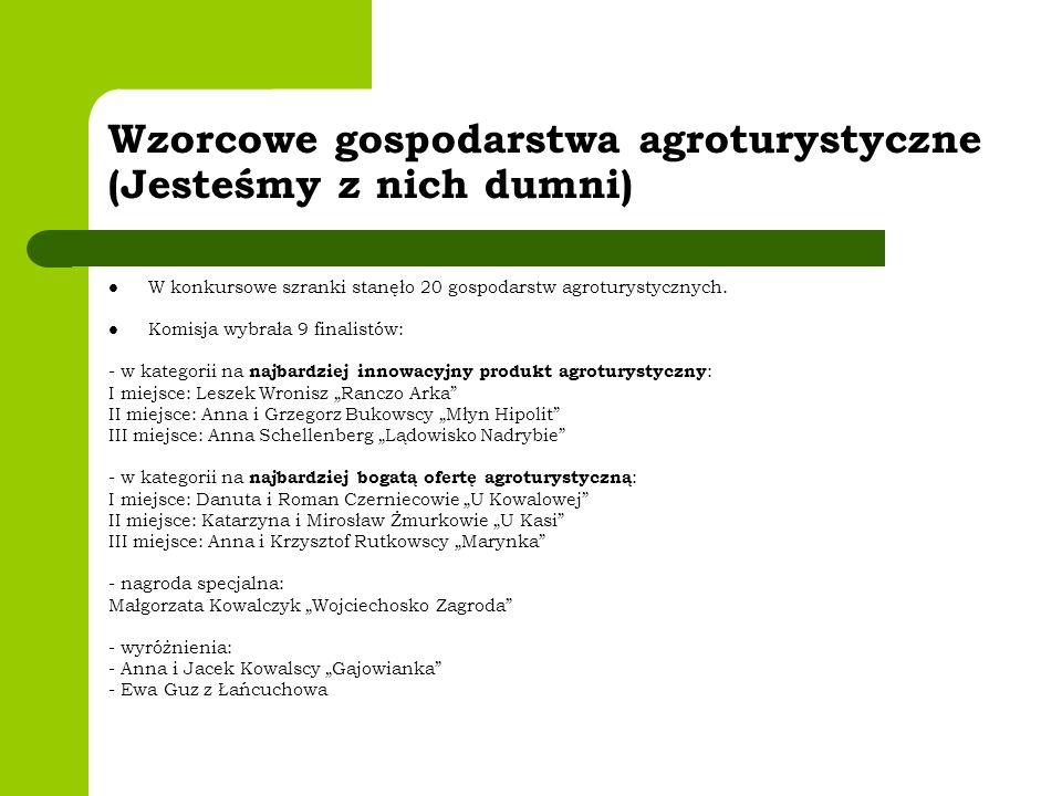 Wzorcowe gospodarstwa agroturystyczne (Jesteśmy z nich dumni)