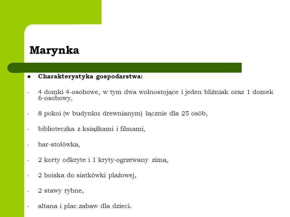 Marynka Charakterystyka gospodarstwa: