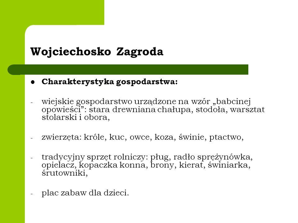 Wojciechosko Zagroda Charakterystyka gospodarstwa: