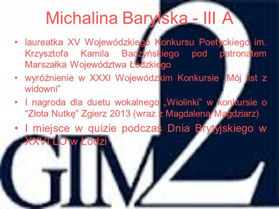 Michalina Barylska - III A