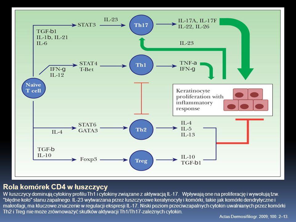 Rola komórek CD4 w łuszczycy