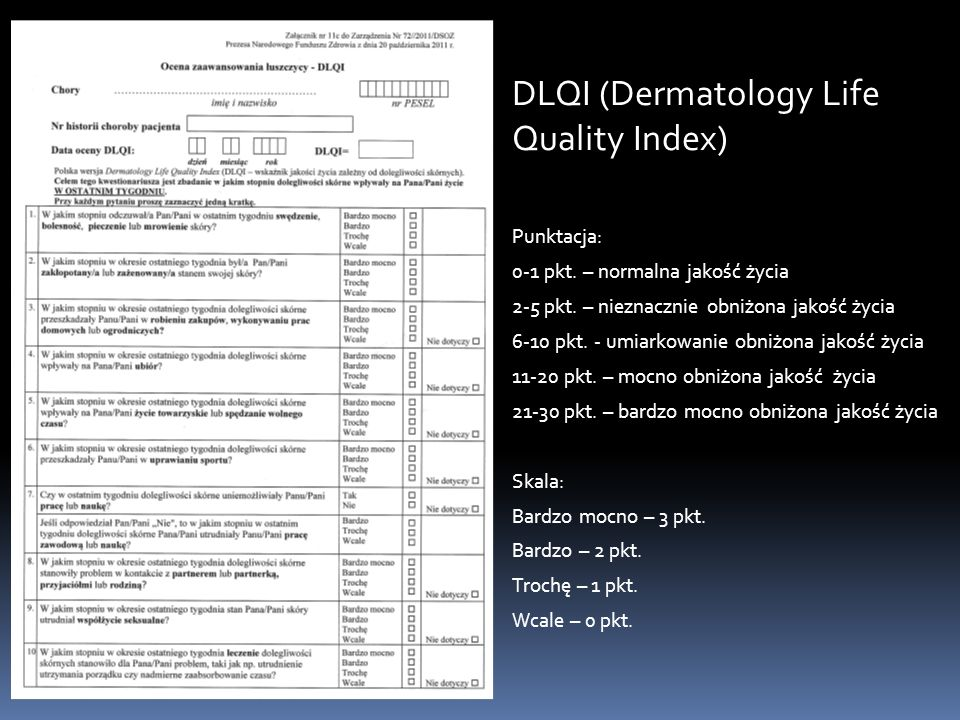 DLQI (Dermatology Life Quality Index)