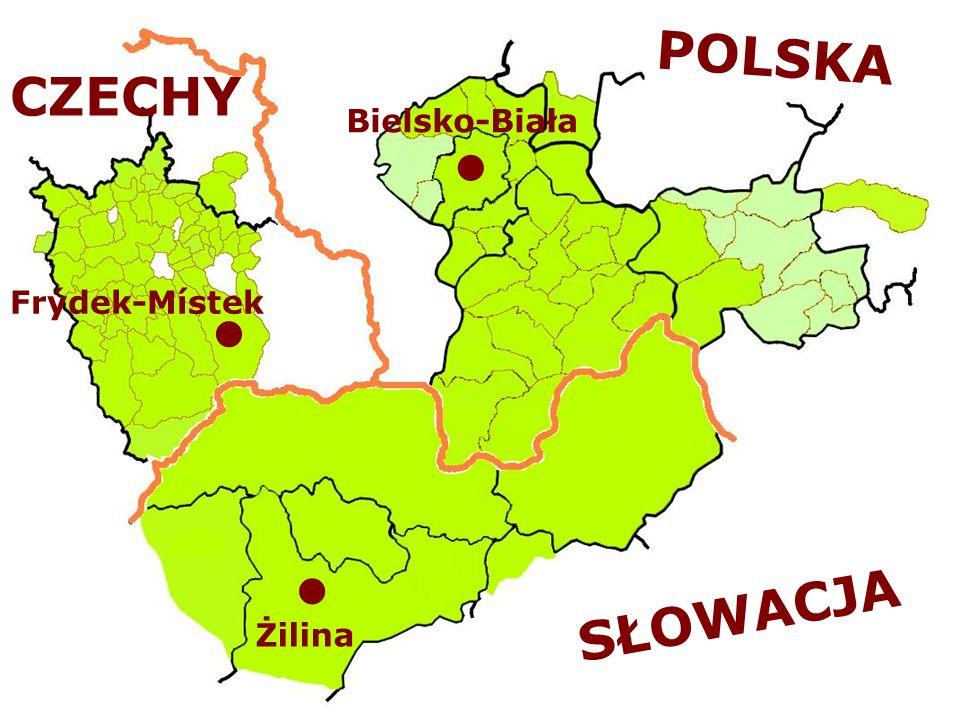 POLSKA CZECHY Bielsko-Biała Frýdek-Místek SŁOWACJA Żilina