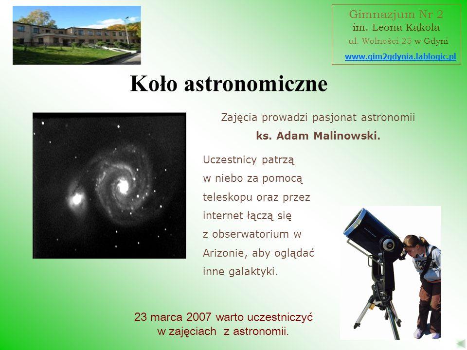 Koło astronomiczne Gimnazjum Nr 2