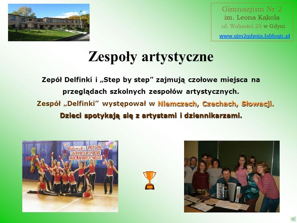 Zespoły artystyczne Gimnazjum Nr 2 ul. Wolności 25 w Gdyni