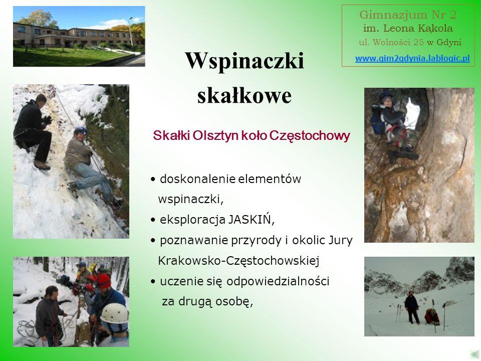 Wspinaczki skałkowe Skałki Olsztyn koło Częstochowy Gimnazjum Nr 2