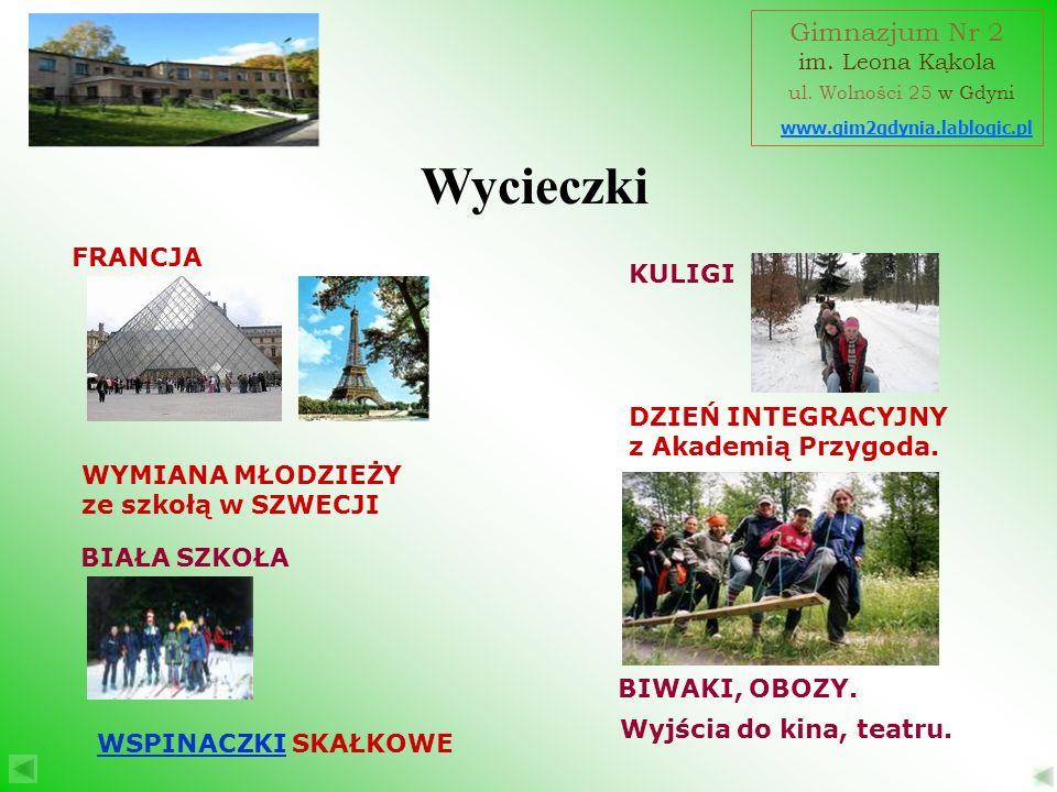 Wycieczki Gimnazjum Nr 2 ul. Wolności 25 w Gdyni FRANCJA KULIGI