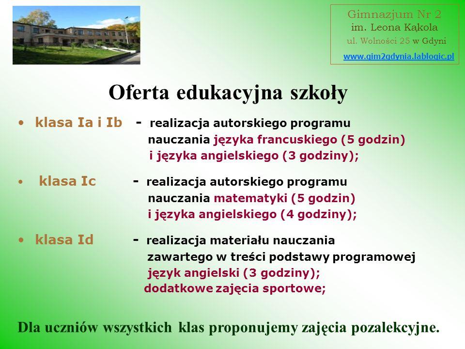 Oferta edukacyjna szkoły